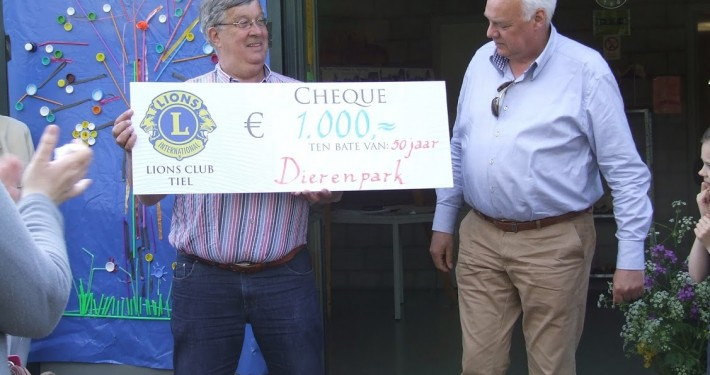 Lions club Donatie in het Hertenkamp Tiel