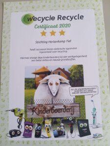 wecycle_certificaat_hertenkamp_2021